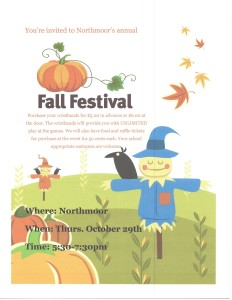 Northmoor Elem 2015 Fall Festival Flyer